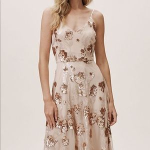 Anthropologie champagne Dress  size 12 NWT